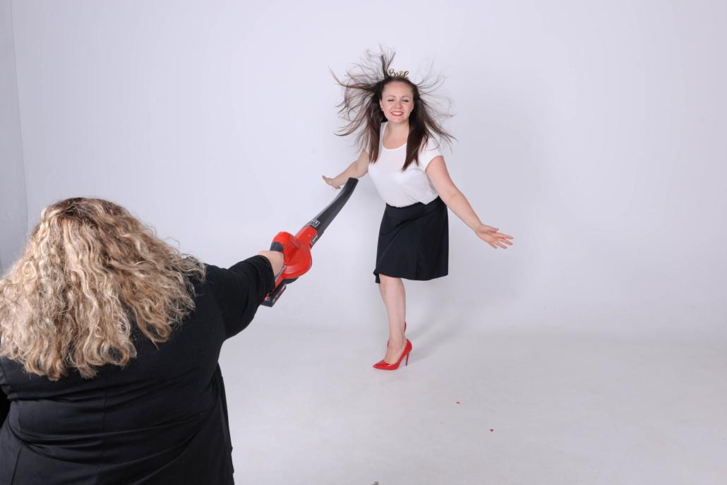 JGA Fotoshooting mit Gebläse